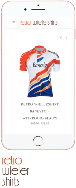 Retro-Wielershirts mobiel